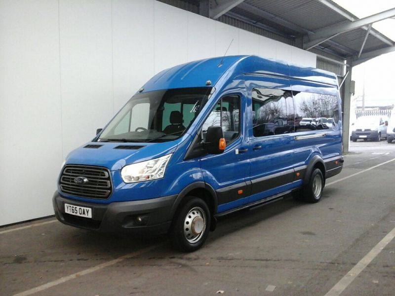 FORD TRANSIT 460 TDCI 125 L4 H3 TREND 17 SEAT BUS HIGH ROOF DRW RWD - 8681 - 1