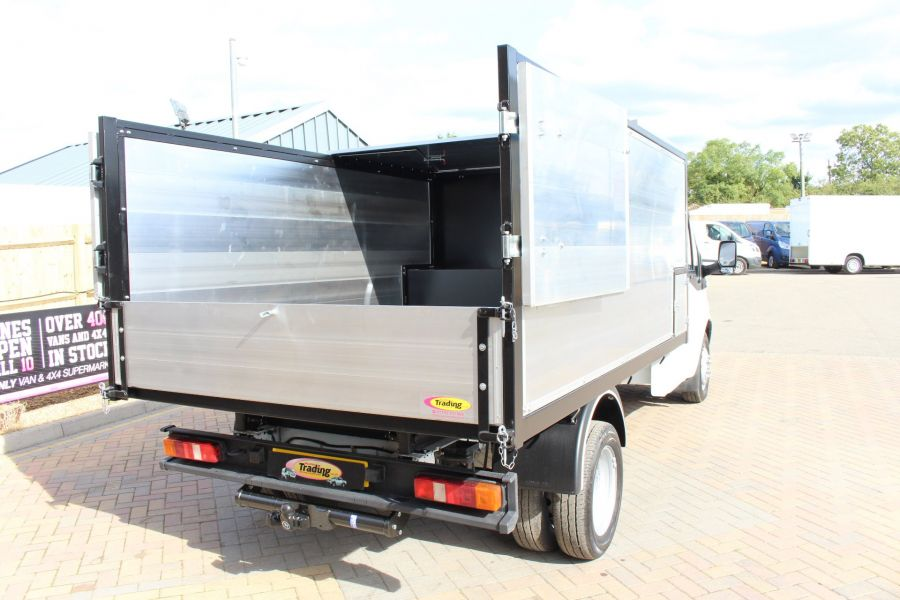 FORD TRANSIT 350 MWB SINGLE CAB HIGH SIDED ARBORIST ALLOY TIPPER - 6153 - 12