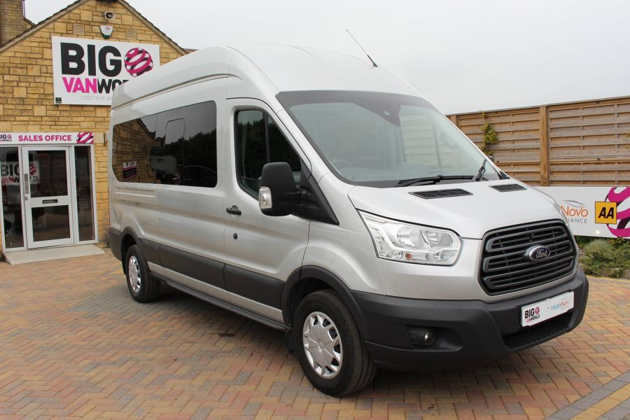 FORD TRANSIT 410 TDCI 155 L3 H3 TREND 15 SEAT BUS LWB HIGH ROOF RWD - 9126 - 2