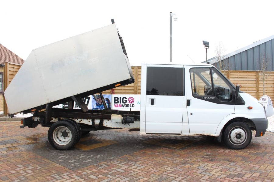 FORD TRANSIT 350 TDCI 110 LWB DOUBLE CAB HIGH SIDED ARBORIST TIPPER - 7454 - 3