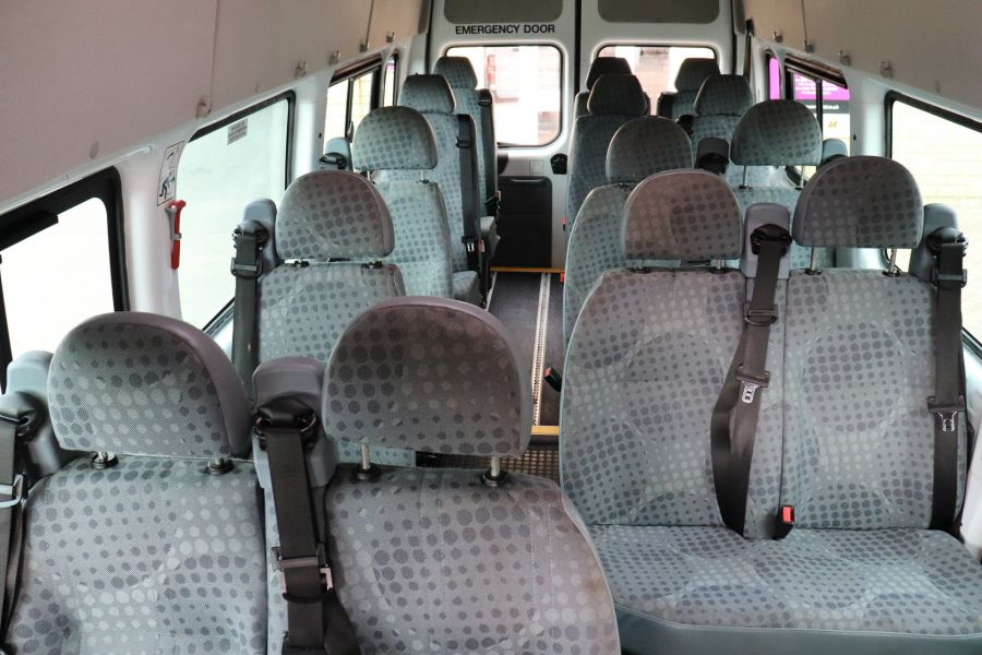 FORD TRANSIT 430 TDCI 135 EL LWB 17 SEAT BUS WITH WHEELCHAIR ACCESS HIGH ROOF DRW RWD - 9665 - 34
