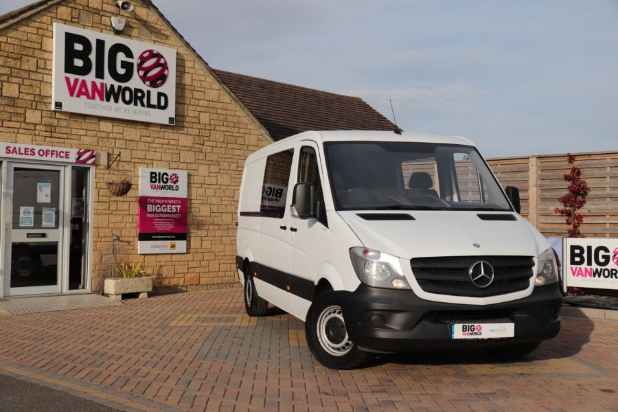 MERCEDES SPRINTER 313 CDI 129 MWB DOUBLE CAB 6 SEAT CREW VAN LOW ROOF - 11824 - 3