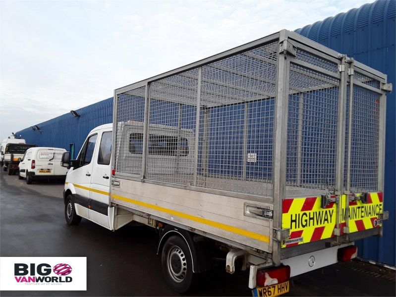 MERCEDES SPRINTER 314CDI LWB DOUBLE CAB 6 SEAT CAGED ALLOY TIPPER - 9288 - 4