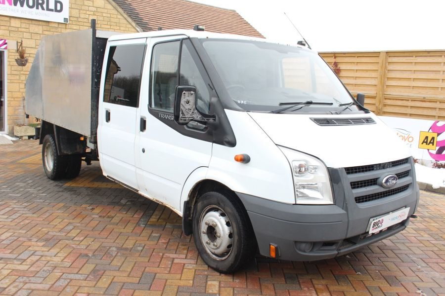 FORD TRANSIT 350 TDCI 110 LWB DOUBLE CAB HIGH SIDED ARBORIST TIPPER - 7454 - 10