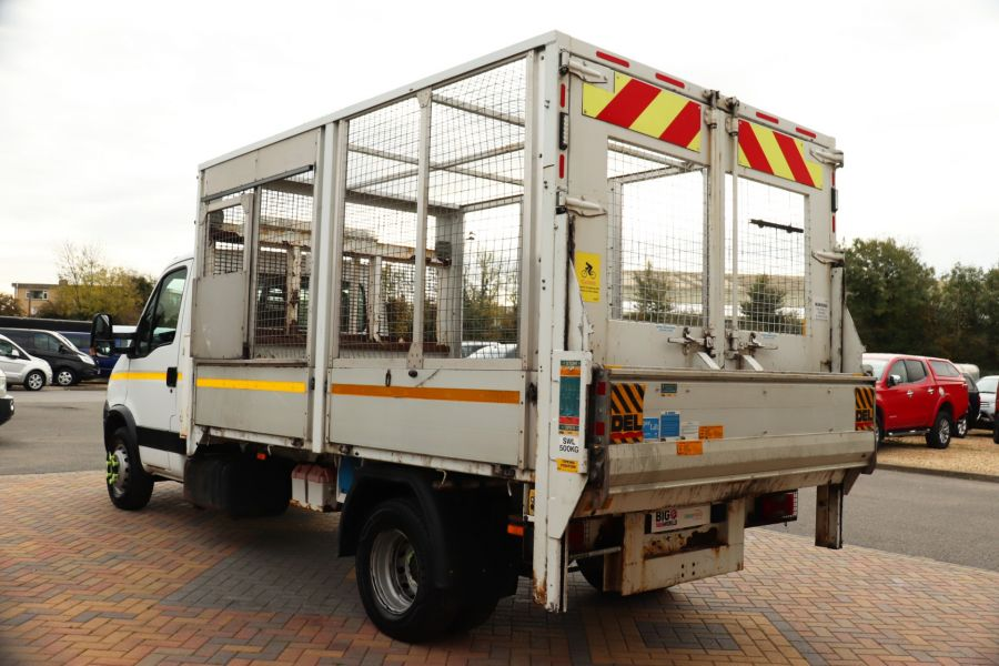 IVECO DAILY 70C18 3450 WB SINGLE CAB ALLOY CAGED TIPPER WITH TAIL LIFT - 9614 - 9
