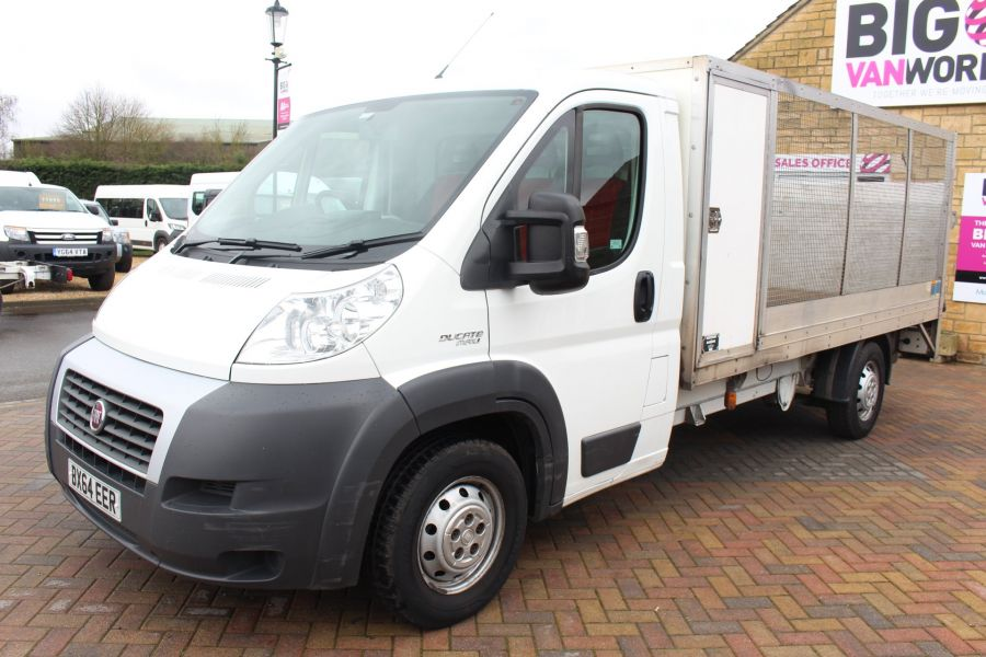 FIAT DUCATO 35 MAXI MULTIJET 130 13.5 FT ALLOY CAGED DROPSIDE WITH TAIL LIFT - 8868 - 8