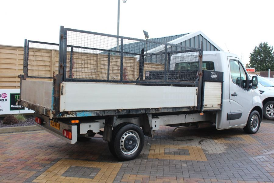 RENAULT MASTER LL35 DCI 125 LWB CAGED ALLOY TIPPER WITH SEPERATE TOOLBOX - 7124 - 9