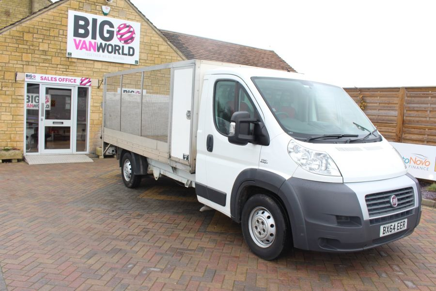 FIAT DUCATO 35 MAXI MULTIJET 130 13.5 FT ALLOY CAGED DROPSIDE WITH TAIL LIFT - 8868 - 3