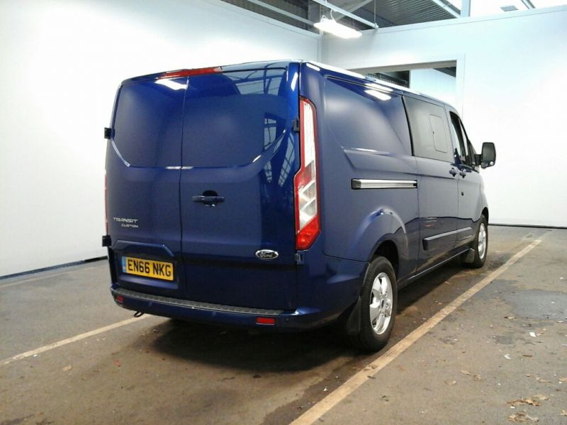 FORD TRANSIT CUSTOM 310 TDCI 130 L2 H1 LIMITED DOUBLE CAB 6 SEAT CREW VAN LWB LOW ROOF FWD - 8968 - 3