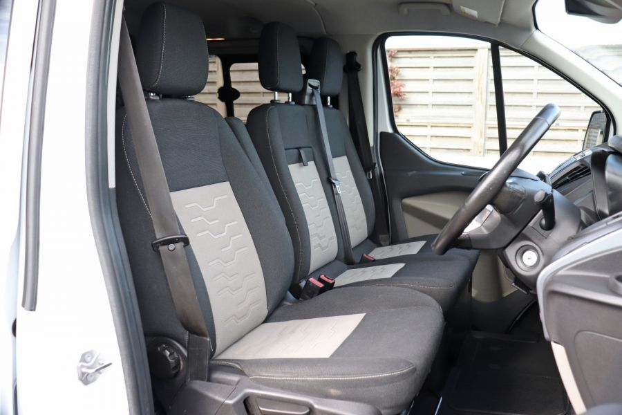 FORD TRANSIT CUSTOM 310 TDCI 130 L2H1 LIMITED DOUBLE CAB 6 SEAT CREW VAN LWB LOW ROOF FWD  (13819) - 12104 - 15