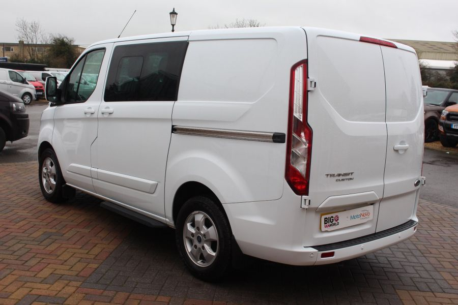 FORD TRANSIT CUSTOM 290 TDCI 155 L1 H1 LIMITED DOUBLE CAB 6 SEAT CREW VAN SWB LOW ROOF FWD - 6940 - 7