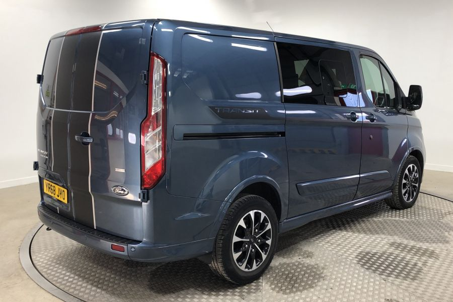 FORD TRANSIT CUSTOM 310 TDCI 170 L1H1 SPORT DOUBLE CAB 5 SEAT CREW VAN SWB LOW ROOF FWD AUTO - 12470 - 3