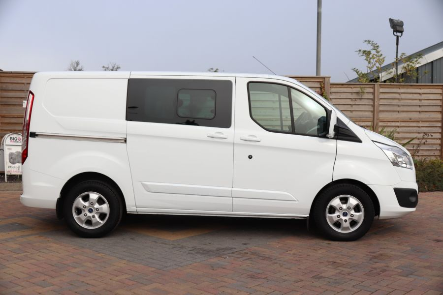 FORD TRANSIT CUSTOM 310 TDCI 130 L1H1 LIMITED DOUBLE CAB 6 SEAT CREW VAN SWB LOW ROOF FWD - 9964 - 4