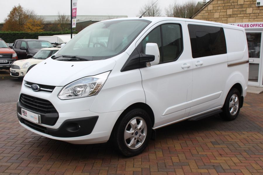 FORD TRANSIT CUSTOM 290 TDCI 155 L1 H1 LIMITED DOUBLE CAB 6 SEAT CREW VAN SWB LOW ROOF FWD - 6940 - 8