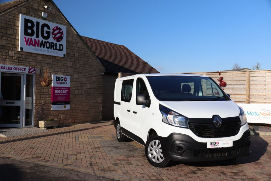 RENAULT TRAFIC SL27 DCI 115 BUSINESS SWB DOUBLE CAB 6 SEAT CREW VAN LOW ROOF  - 10282 - 1