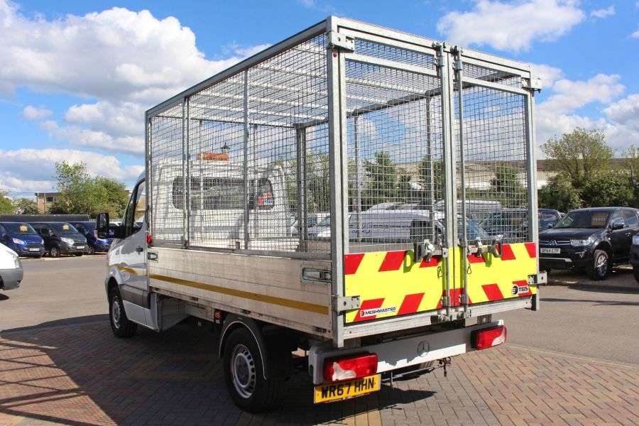 MERCEDES SPRINTER 314 CDI 140 SINGLE CAB CAGED ALLOY TIPPER - 9303 - 7