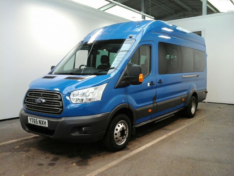 FORD TRANSIT 460 TDCI 125 L4 H3 TREND 17 SEAT BUS HIGH ROOF DRW RWD - 8682 - 1