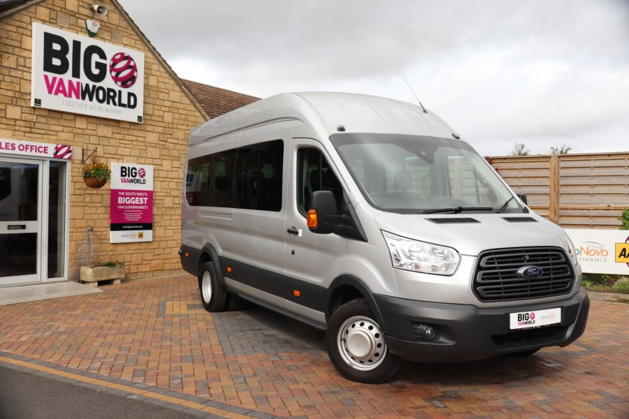 FORD TRANSIT 460 TDCI 155 L4H3 TREND 17 SEAT BUS HIGH ROOF DRW RWD - 9897 - 1
