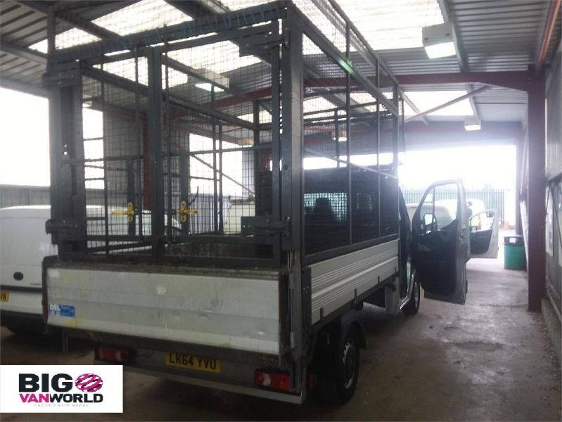 VAUXHALL MOVANO F3500 CDTI 125 L2 H1 ALLOY TIPPER WITH STEEL CAGED FWD - 9230 - 2