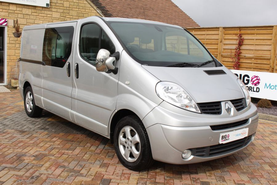 RENAULT TRAFIC LL29 DCI 115 SPORT LWB LOW ROOF DOUBLE CAB 6 SEAT CREW VAN - 7507 - 3