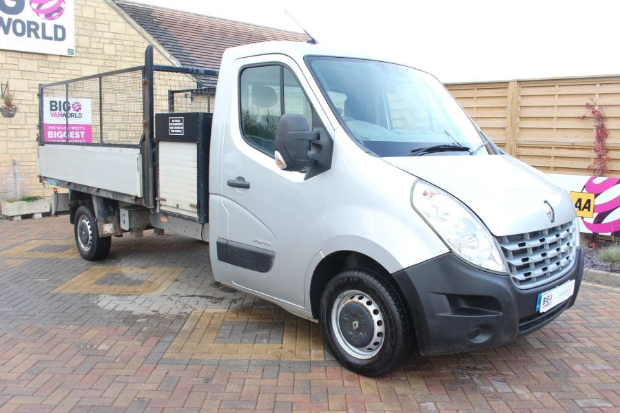 RENAULT MASTER LL35 DCI 125 LWB CAGED ALLOY TIPPER WITH SEPERATE TOOLBOX - 7124 - 7