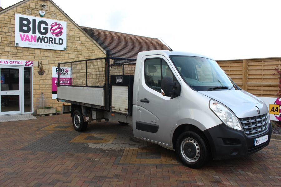 RENAULT MASTER LL35 DCI 125 LWB CAGED ALLOY TIPPER WITH SEPERATE TOOLBOX - 7124 - 6