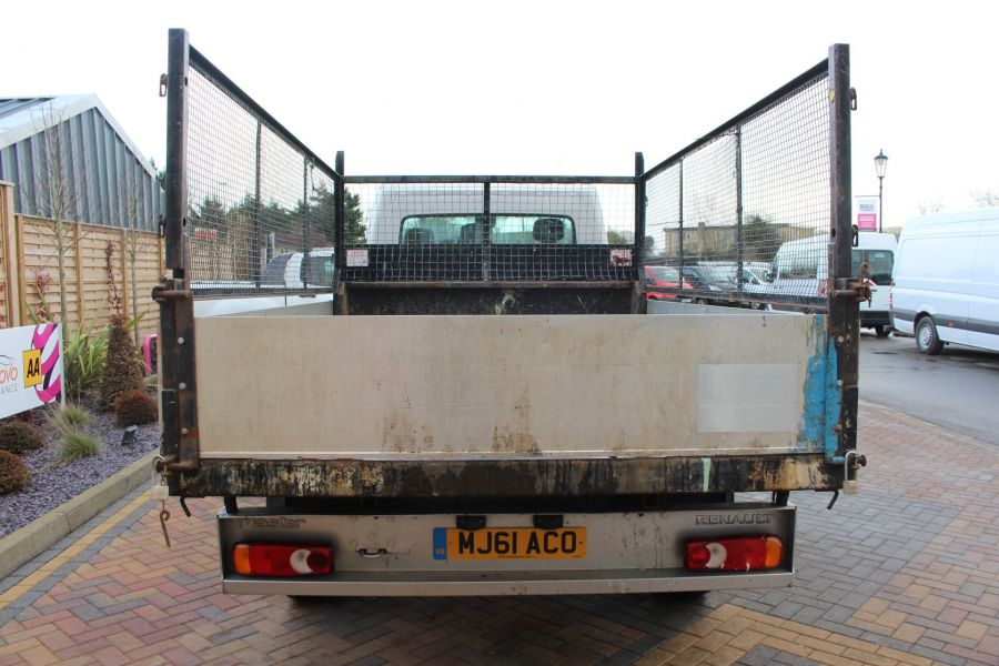 RENAULT MASTER LL35 DCI 125 LWB CAGED ALLOY TIPPER WITH SEPERATE TOOLBOX - 7124 - 10