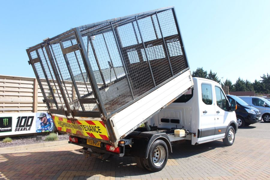 FORD TRANSIT 350 TDCI 125 L3 LWB 7 SEAT DOUBLE CAB 'ONE STOP' ALLOY TIPPER WITH STEEL CAGE DRW RWD - 9150 - 6