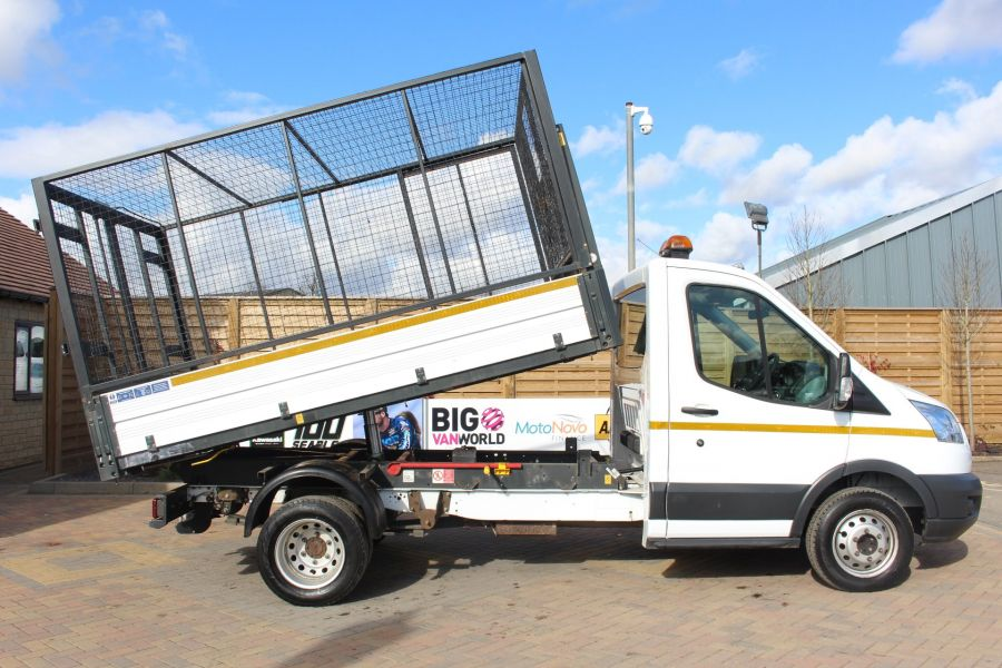 FORD TRANSIT 350 TDCI 125 SINGLE CAB 'ONE STOP' CAGED TIPPER DRW RWD - 7297 - 3