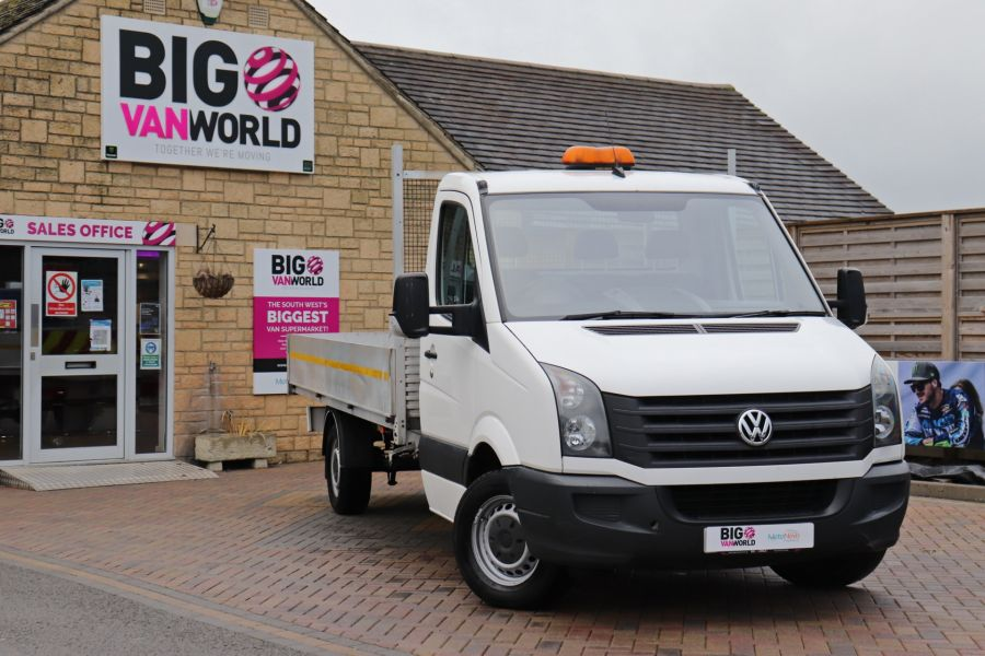 VOLKSWAGEN CRAFTER CR35 TDI 140 BMT LWB SINGLE CAB ALLOY DROPSIDE - 12073 - 4