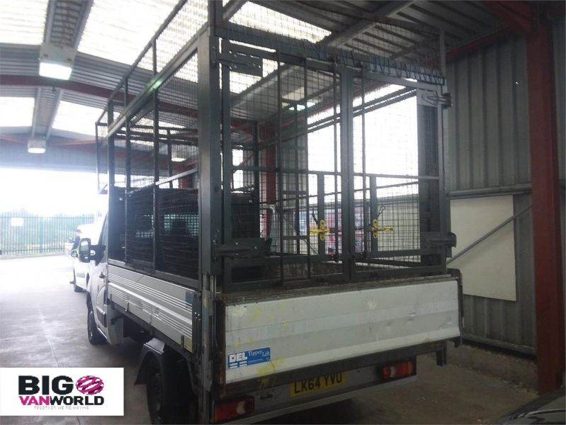 VAUXHALL MOVANO F3500 CDTI 125 L2 H1 ALLOY TIPPER WITH STEEL CAGED FWD - 9230 - 3