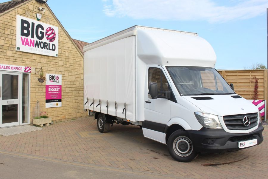 MERCEDES SPRINTER 313 CDI LWB 14FT CURTAIN SIDE LUTON BOX - 6147 - 1