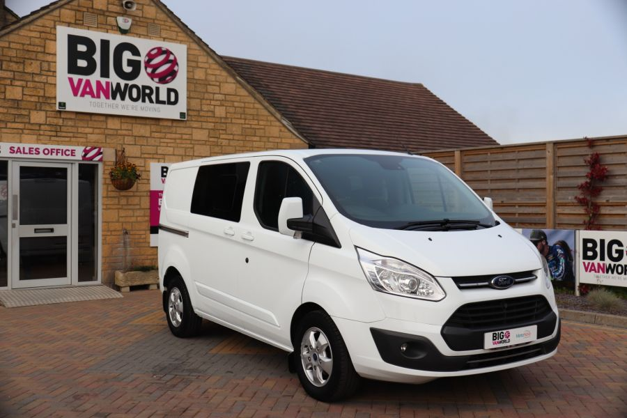 FORD TRANSIT CUSTOM 310 TDCI 130 L1H1 LIMITED DOUBLE CAB 6 SEAT CREW VAN SWB LOW ROOF FWD - 9964 - 2