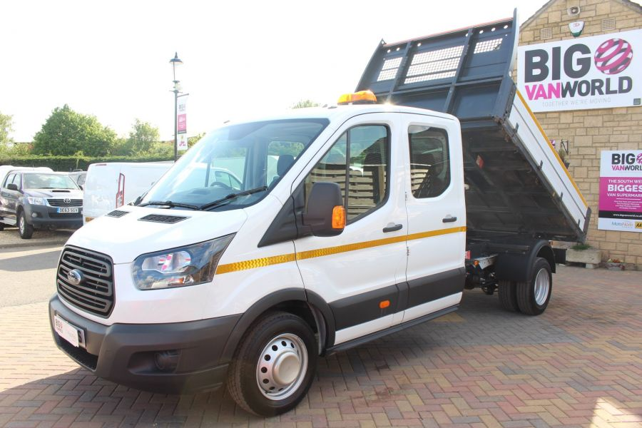 FORD TRANSIT 350 TDCI 130 L3 LWB 7 SEAT DOUBLE CAB 'ONE STOP' ALLOY TIPPER DRW RWD - 7634 - 7