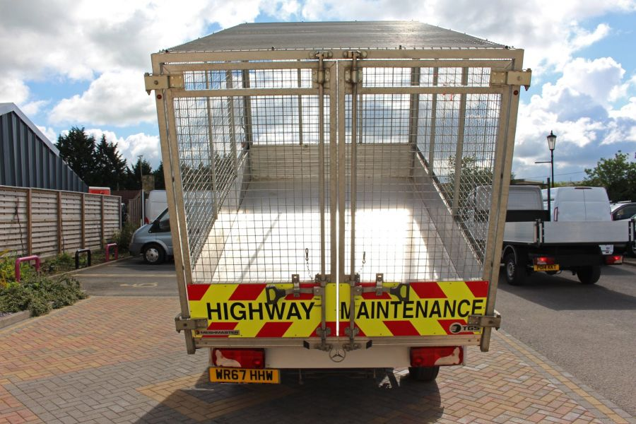 MERCEDES SPRINTER 314 CDI 140 DOUBLE CAB 6 SEAT CAGED ALLOY TIPPER - 9302 - 15