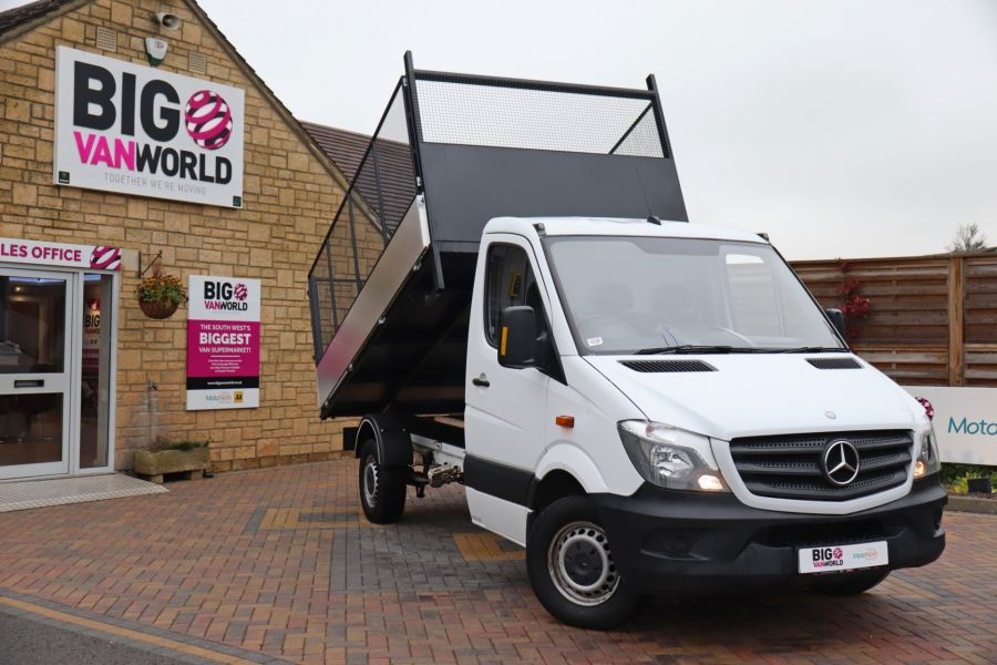 MERCEDES SPRINTER 313 CDI 129 MWB SINGLE CAB NEW BUILD ALLOY CAGED TIPPER - 9685 - 1