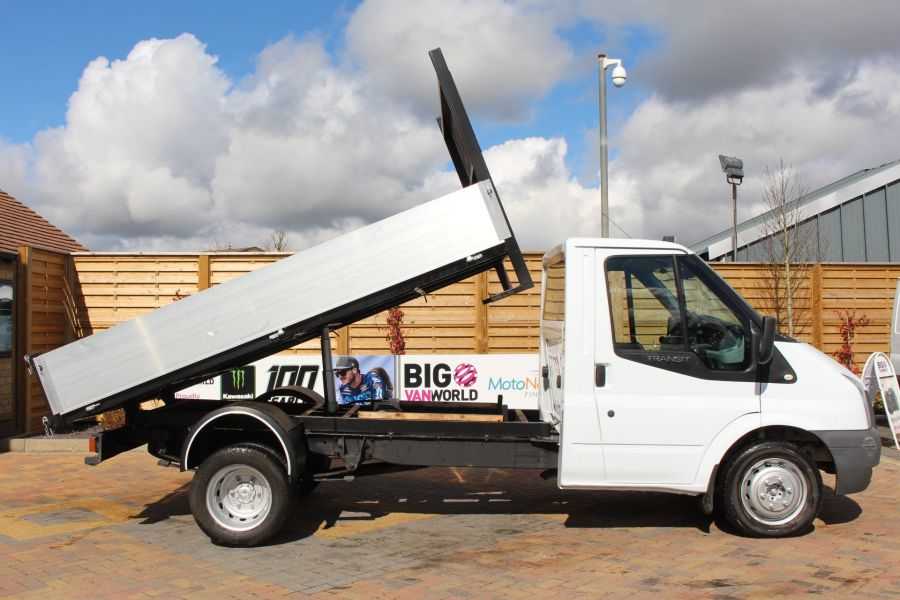 FORD TRANSIT 350 TDCI 100 MWB SINGLE CAB ALLOY TIPPER - 7589 - 3