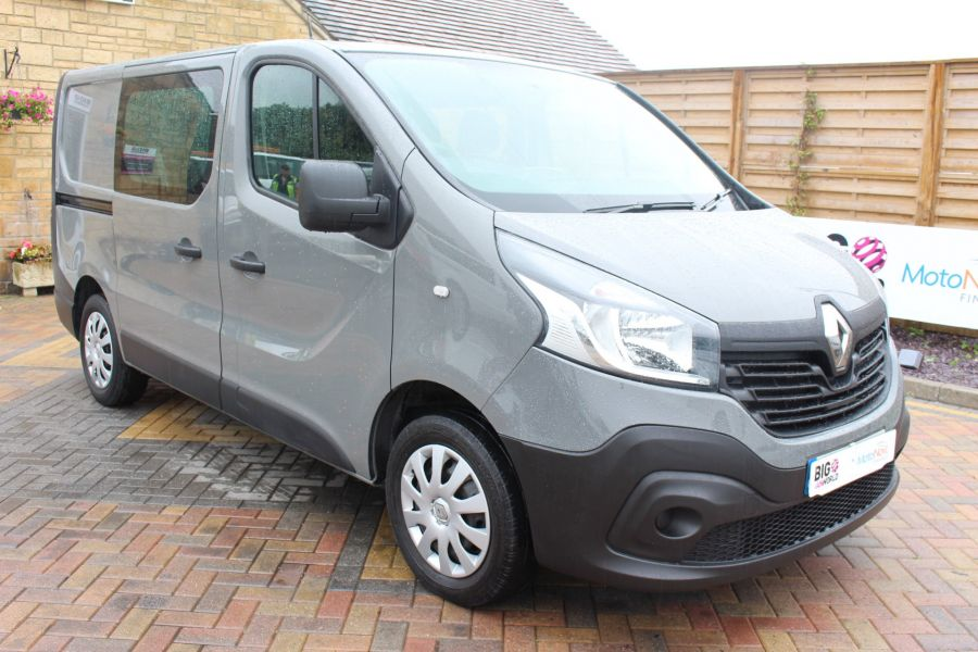 RENAULT TRAFIC SL27 DCI 115 BUSINESS DOUBLE CAB 6 SEAT CREW VAN SWB LOW ROOF - 8178 - 1
