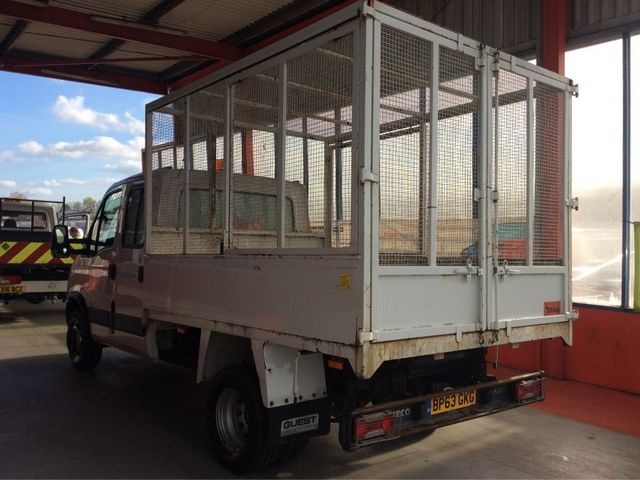 IVECO DAILY 65C17D 3.0 170BHP 3750 DOUBLE CAB CAGED TIPPER - 7005 - 4