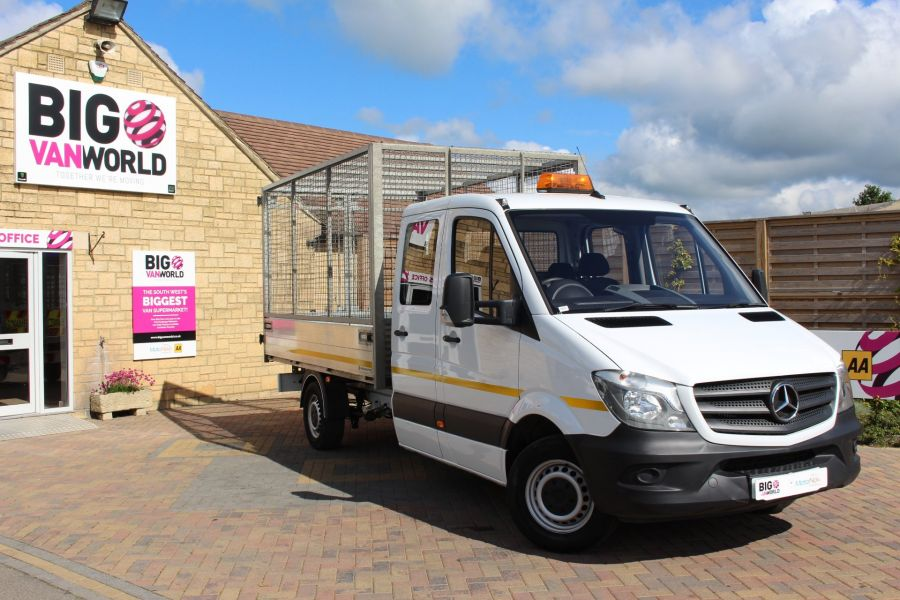 MERCEDES SPRINTER 314 CDI 140 DOUBLE CAB 6 SEAT CAGED ALLOY TIPPER - 9302 - 2