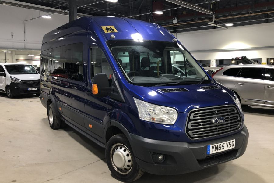FORD TRANSIT 460 TDCI 155 L4H3 TREND 17 SEAT BUS HIGH ROOF DRW RWD - 12067 - 1