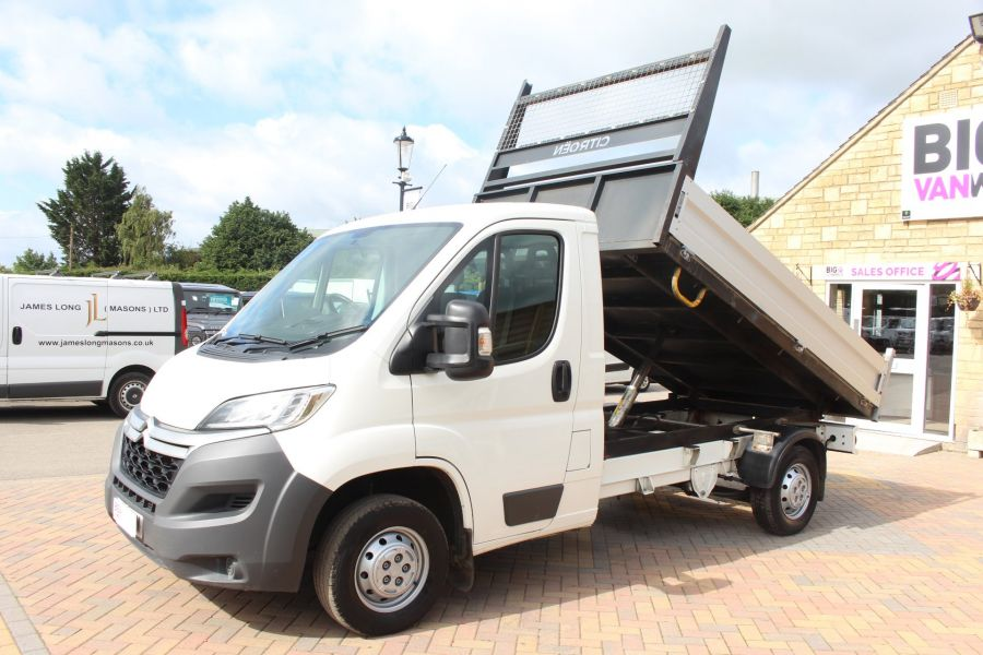 CITROEN RELAY 35 HDI 130 MWB L2 SINGLE CAB ALLOY TIPPER - 6202 - 8