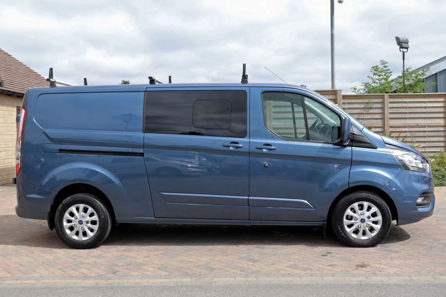 FORD TRANSIT CUSTOM 320 TDCI 130 L2 H1 LIMITED DOUBLE CAB 6 SEAT CREW VAN LWB LOW ROOF FWD - 9606 - 4
