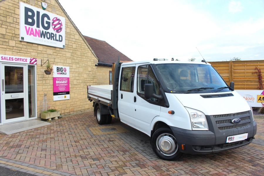 FORD TRANSIT 350 TDCI 125 LWB DOUBLE CAB 'ONE STOP' ALLOY DROPSIDE DRW RWD - 6761 - 1