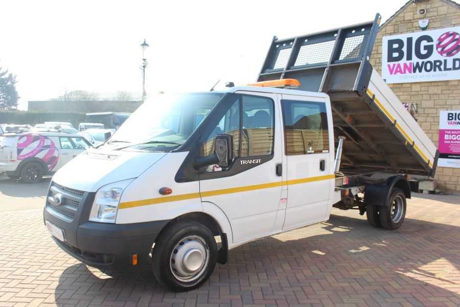 FORD TRANSIT 350 TDCI 155 LWB 6 SEAT DOUBLE CAB 'ONE STOP' ALLOY TIPPER DRW RWD - 7337 - 7