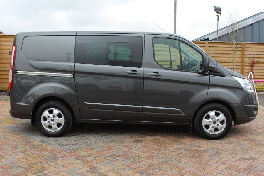 FORD TRANSIT CUSTOM 290 TDCI 125 L1 H1 LIMITED DOUBLE CAB 6 SEAT CREW VAN SWB LOW ROOF FWD - 7542 - 4