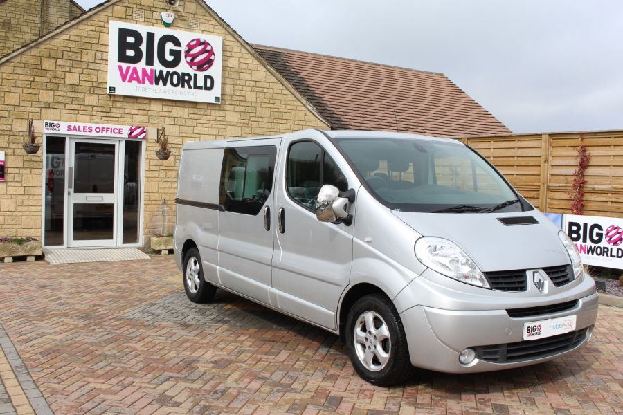 RENAULT TRAFIC LL29 DCI 115 SPORT LWB LOW ROOF DOUBLE CAB 6 SEAT CREW VAN - 7507 - 2