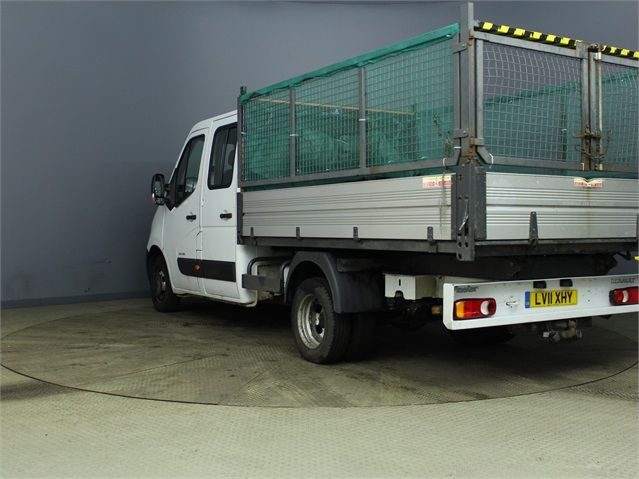 RENAULT MASTER ML35 DCI 100 MWB 7 SEAT DOUBLE CAB ALLOY CAGED TIPPER DRW RWD - 7335 - 4
