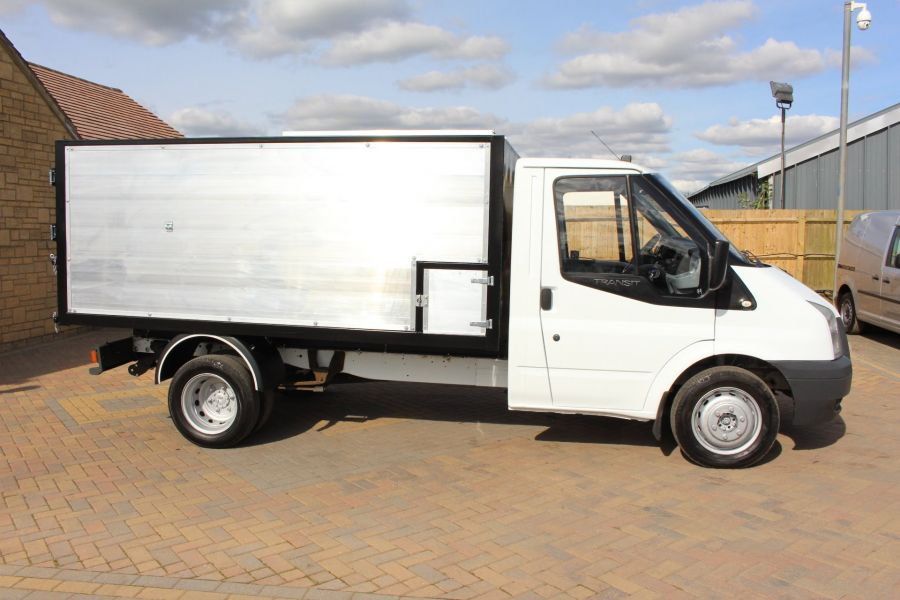 FORD TRANSIT 350 MWB SINGLE CAB HIGH SIDED ARBORIST ALLOY TIPPER - 6153 - 2