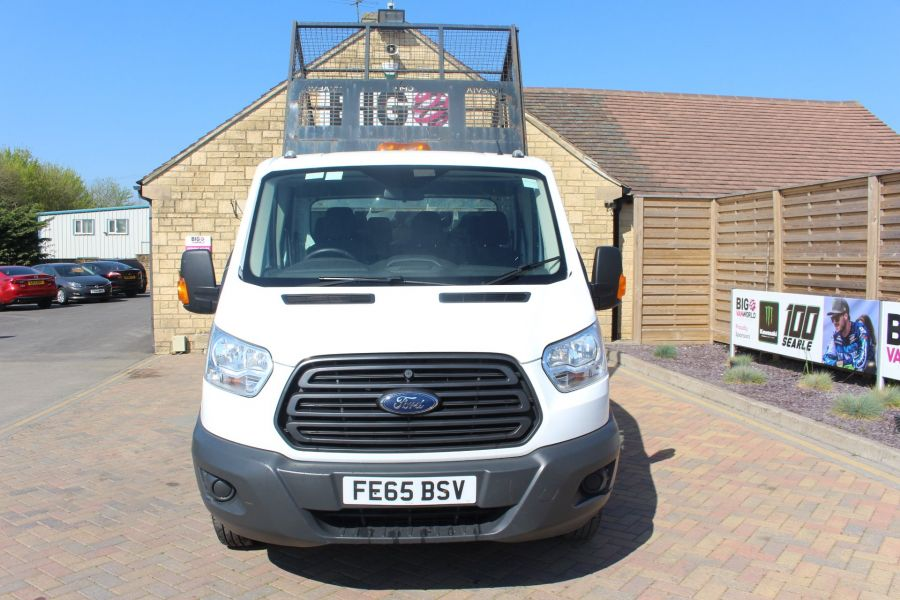 FORD TRANSIT 350 TDCI 125 L3 LWB 7 SEAT DOUBLE CAB 'ONE STOP' ALLOY TIPPER WITH STEEL CAGE DRW RWD - 9150 - 9